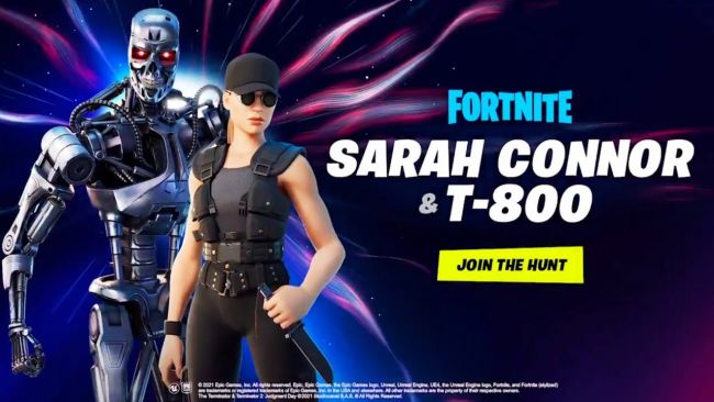 Terminator og Sarah Connor er i Fortnite