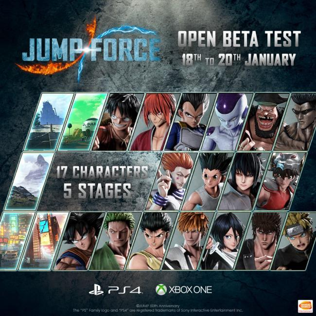 Jump Force får betatest
