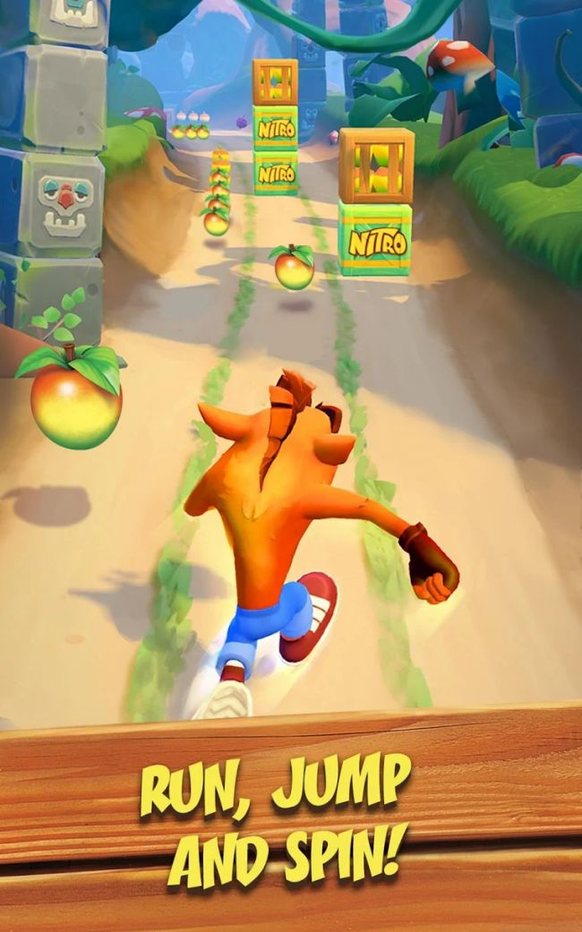 Crash Bandicoot: On the Run! annonsert