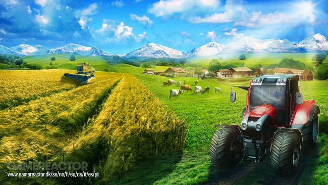 Masse gameplay fra Farming Simulator 17