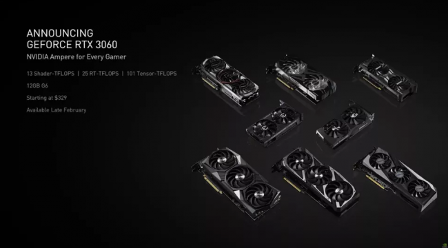 Nvidia finally introduces the GeForce RTX 3060 12 GB