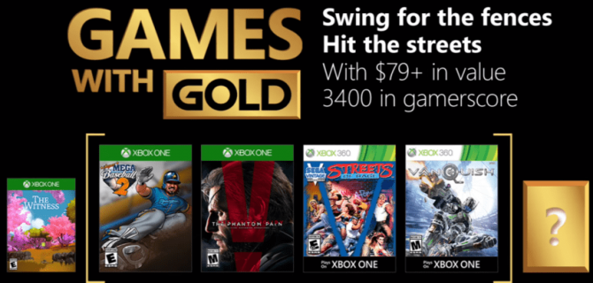 Games with Gold for mai avduket