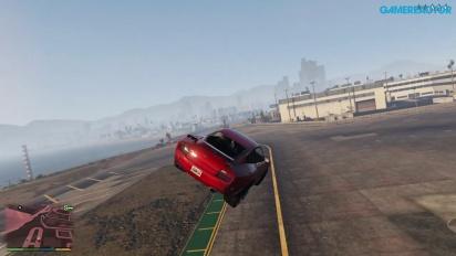 Se oss gjøre bilstunts i GTA V!