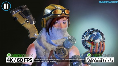 Recore - sammenligning på Xbox One X/S