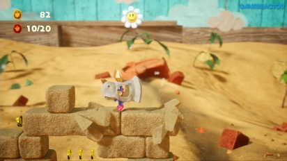 Yoshi's Crafted World - Dino Smash Gameplay
