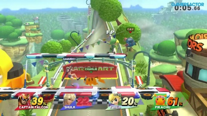 Gameplay: Super Smash Bros. for Wii U - 3 mot én Level 50 Amiibo