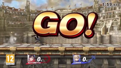 Super Smash Bros. for Nintendo 3DS & Wii U - Bayonetta vs. Corrin Gameplay