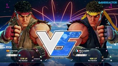 Gameplay: Street Fighter V beta - Ryu vs. Ryu