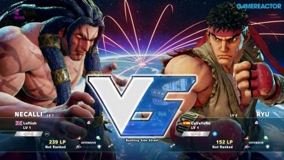 Gameplay: Street Fighter V beta - Necalli vs. Ryu