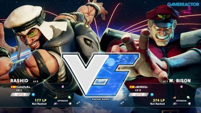 Gameplay: Street Fighter V beta - Rashid vs. M. Bison
