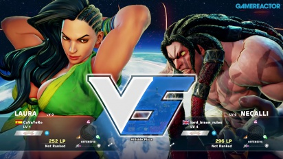 Gameplay: Street Fighter V beta - Laura vs. Necalli
