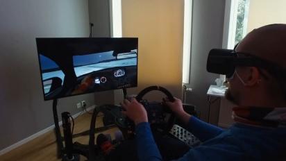 Project CARS 2 med VR og kjørestol