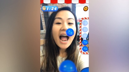 Candy Crush Saga - Facebook AR effect gameplay video