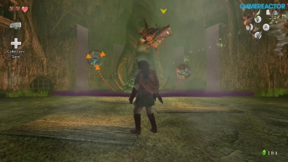 Gameplay: Zelda: Twilight Princess HD - Forest Temple Diababa Boss Battle
