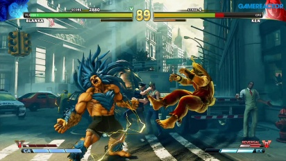 Street Fighter V: Arcade Edition - Blanka vs Ken SFII Path Gameplay