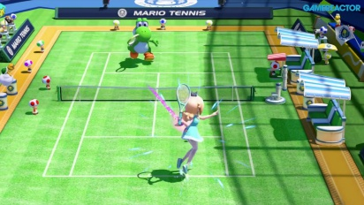 Gameplay: Mario Tennis: Ultra Smash - Mega Battle (Rosalina vs Yoshi)