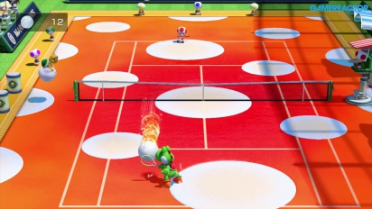 Gameplay: Mario Tennis: Ultra Smash - Mega Ball Rally (Yoshi vs Toad)
