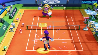 Gameplay: Mario Tennis: Ultra Smash - Knockout Challenge (Waluigi)