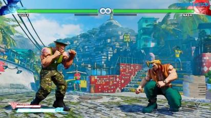 Gameplay: Guile i Street Fighter V