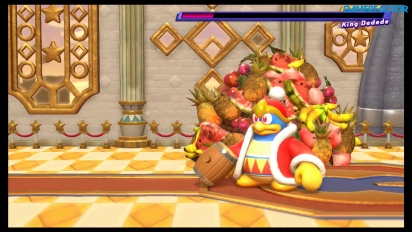 Kirby Star Allies - King Dedede Boss Battle Gameplay