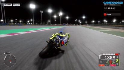 MotoGP 19 - Beginner Qatar Night Race Gameplay