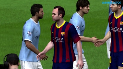 Gameplay: FIFA 14 - FC Barcelona vs Manchester City