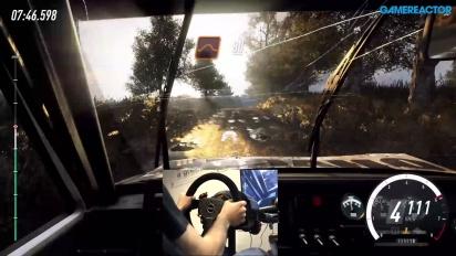 Dirt Rally 2.0 - Grus-gameplay med ratt og pedaler