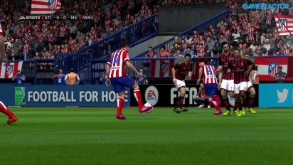 Gameplay: FIFA 14 - Atlético de Madrid vs. AC Milan