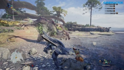 Monster Hunter World - Gamescom Great Jagras Gameplay