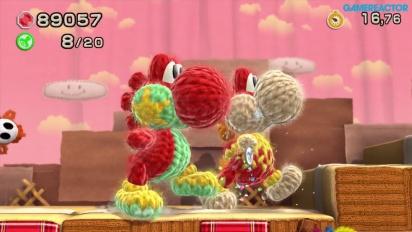 Gameplay: Yoshi's Woolly World - Nivå 1-6 og 1-7 (co-op)