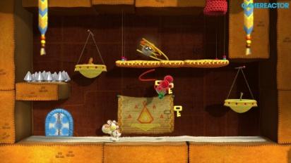 Gameplay: Yoshi's Woolly World - Nivå 2-2, 2-3 og 2-7 (co-op)