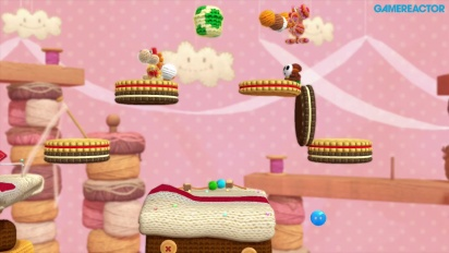 Gameplay: Yoshi's Woolly World - Nivå 3-1 og 3-2 (co-op)