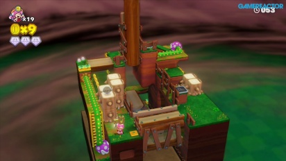 Gameplay: Captain Toad: Treasure Tracker: Mission 2-2 Stumper Sneakaround
