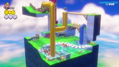 Gameplay: Captain Toad: Treasure Tracker: Mission 2-5 Floaty Fun Water Park