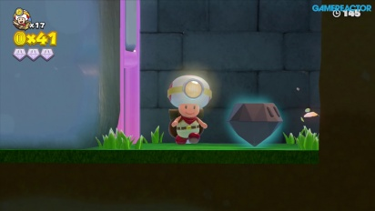 Gameplay: Captain Toad: Treasure Tracker: Mission 1-4 Mushroom Mesa