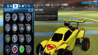 Rocket League - DC Heroes DLC-innholdet