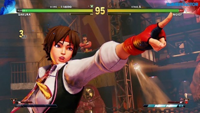 Street Fighter V: Arcade Edition - SF Alpha Path - Sakura vs. Zangief