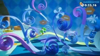 Yoshi's Crafted World - Ribbon Level Flipside Gameplay