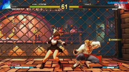 Street Fighter V: Arcade Edition - SF Alpha Path - Sakura vs. Vega