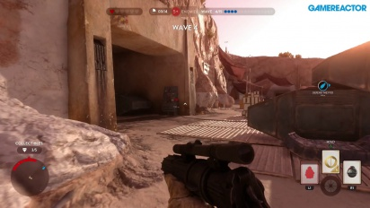 Star Wars Battlefront - Rebel Depot Survival Mode Gameplay