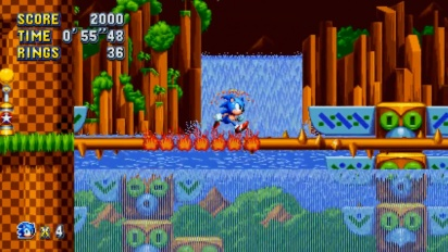 Sonic Mania - Green Hill Zone Act 2 Gameplay