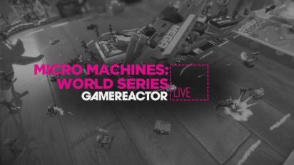 Se oss kjøre bittesmå biler i Micro Machines
