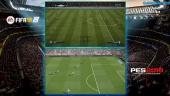 Vi sammenligner FIFA 18 og PES 2018