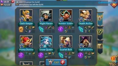 Lords Mobile - Et utvalg av 8 Heroes