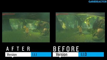 The Legend of Zelda Breath of the Wild - Sammenligning før og etter 1.1.1.-oppdateringen