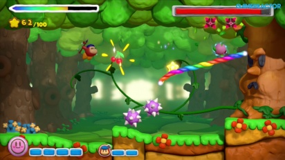 Gameplay: Kirby and the Rainbow Paintbrush (co-op)