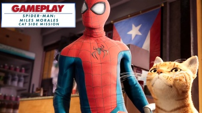 Spider-Man: Miles Morales - Spider-Cat side mission - Gameplay Montage