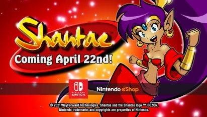 Shantae -  Nintendo Switch Release Date Trailer