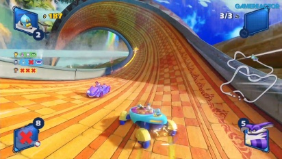 Team Sonic Racing - Lost Palace Survival Race